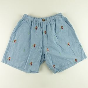 Chubbies Men Parrot Embroidery Casual Shorts A6302